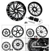 18x5.5and039and039 Rear Wheel Rim Hub Belt Pulley Sprocket Fit For Harley Flhr Flhx 08-21