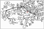 Genuine Mercedes Sl R107 Cable Harness A1075401906