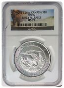 2015 Ms70 Silver 1.25 Oz. Canada Bison Early Releases 8 Dollar