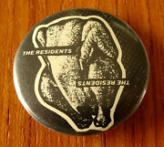 Rare Vintage 1970s The Residents Pin Button Pinback Duck Stab, Buster And Glen M