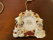 Disney Christmas Collection Mickey And Minnie Victorian Photo Frame Ornament
