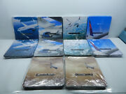 Case Of 2000 Delta Airlines 1/3 Tray Liners. 9x9 Various Airplanes Flying Scenes