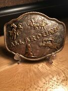 Vintage Sterling Silver Belt Buckle Carlos Silver All Around Cowboy Rodeo Buckle