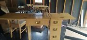 Singer 403a Slant-o-matic Sewing Machine Excellant Condition Wood Desk Chair