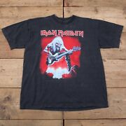 Mens 90s Black Iron Maiden 1993 Real Live Tour Graphic Tee T-shirt Xl R20224