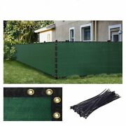 Black Green Beige Gray 4' 6' Height Fence Privacy Wind Screen Mesh Shade Cover