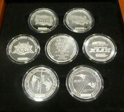 Super Rare 2019 Tom Brady Sb 53 Nfl Champions Coins All 7 S/n 0012/1000 = 1/1