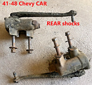 1941-48 Chevy Car - Rear Set Of 2 Oem Shocks Shock - Master Special Deluxe Delco