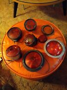 Lot Of Vintage Plastic Metal Tail Lights And Reflector Salvaged Very Nice