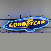 Neon Sign - Goodyear Tires Blimp With Backing 41 - Free 48-state Us Shipping