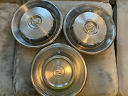 Lot Of 3 - Vintage 1966 Cadillac 16 Inch Hub Caps Wheel Covers