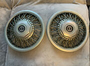 Lot Of 2 - Vintage 1970andrsquos Buick Special Edition 15andrdquo Plastic Hubcaps Wheel Covers