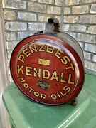 Vintage 1920and039s Penzbest Kendall Motor Oil 5 Gallon Rocker Can Gas Station Rare