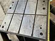 32 X 28 X 2 Steel Welding T-slotted Table Fab 4 Slot Fixture Plate Tombstone