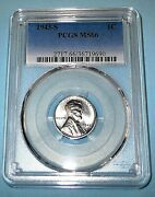 1943-s Steel Gem Uncirculated Wheat Back Penny-pcgs Graded Ms-66 Real Sharp
