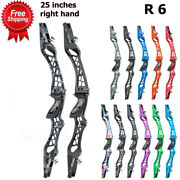25 Recurve Bow Riser Aluminum 6061-t6 Same Color Wood Handle Right-hand Hunting