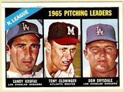 1966 Topps National League Pitching Leaders Of 1965 223 Ex/nrmt