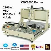 Usb Cnc 6090 4axis 2.2kw Router Machine Wood Metal Engraving Plastic Milling Cut