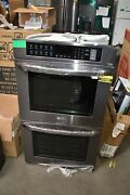 Lg Lwd3063bd 30 Black Stainless Steel Double Electric Wall Oven Nob 107832