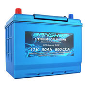 Deep Cycle Lithium-ion Marine Boat Starting Battery Replaces 8006-006 Sc34m