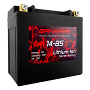 Banshee Replacement Ytx14-bs Maintenance Free Sealed Li-ion Motorcycle Battery