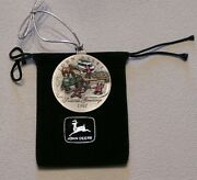 New 1996 And 1997 John Deere Christmas Ornaments Pewter