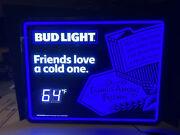 """New Bud Light """"friends Love A Cold One"""" Temp Beer Led Beer Sign Bar Light"""