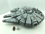 Lego Star Wars Millennium Falcon 7965 Chewy R2 Minifigures - Missing 4 Stickers