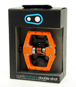 Crank Brothers Double Shot 2 Clipless Platform Mountain Bike Pedals Orange