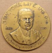 1920 Thomas Buckner New York Ins. Co. Medal Presented For Distinguished Service