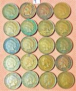 20 High Grade Indian Head Cents From 1906 And 1907, Penny, Nice Coins 7