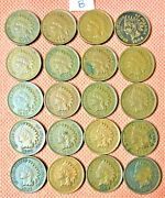 20 High Grade Indian Head Cents From 1906 And 1907, Penny, Nice Coins 8