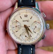 Eberhard Extra Fort Valjoux 65 Chronograph Working Condition,serviced