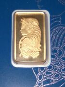 5 Grams Pamp Suisse Gold Bar Sealed In Protected Hard Card From Assayer