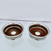 Antique George Iii Sterling Silver Pair Wine Coasters Sheffield 1802 J T Young And