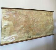 Vintage Map Of Athens Rare Map Geography Map Old Chart Pull Down Chart