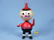 Very Rare Vintage '68 Snoopy Ornament Italy Handblown Glass Charlie From Japan
