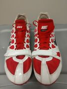 Nike Zoom Rival S Red And White Spiked Track Shoes With Nike Bag Size 14us...