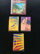 Lord Of The Rings Set 3 W/maps 1995 Edition And 1980 Jrr Tolkien Desk Calendar