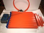 Huge Hot Wheels Track Lot With Loop 170andrsquo Feet 20.5andrdquo Sections 100 Plus Sections
