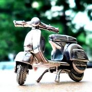 New Vespa 925 Sterling Silver Classic Collectible Motorcycle Model Realistic
