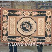Yilong 4and039x6and039 Handknotted French Aubusson Wool Carpets Home Tapestry Rug Mc466w