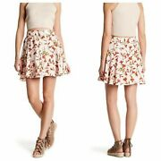 Lovers And Friends X Revolve Fountain Floral Flounce Mini Skirt Lined Belt Xs