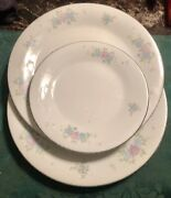 Liling Ling Rose 2 Dinner / 1 Salad Plates | Fine China | Yung Shen | Ships Free