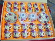 Vintage Staffordshire Mini Teaset 42 Pieces Teapots Cups Saucers More In Box