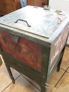 Vintage 1950s Coca-cola Cooler Stand Extremely Rare Antique Coke Embossed 10168