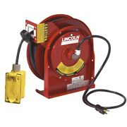 Lincoln Lubrication 91032 Heavy Duty 45and039 Reel With Duplex Outlet Box With Gfci