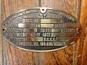 Vintage New Cast Bronze Boat Id/ Commissioning Plate Thick Casting 5 1/2 X 3