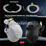 Full Package Male Chastity Device Silica Gel Chastity Cage Adjustable Rings