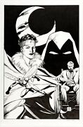 Carl Potts Moon Knight 35 Cover Recreation Art By Original Cover Artist 2018